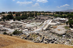 Aerial view of Ancient Beit Shean Royalty Free Stock Photography