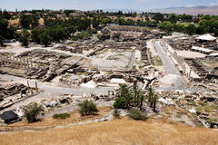 Aerial view of Ancient Beit Shean Royalty Free Stock Photos