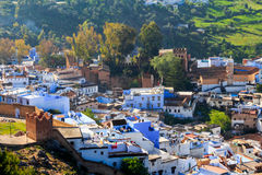 Aerial view of ancient kasbah Stock Images