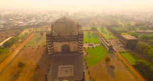 Aerial view of ancient palace in india stock video