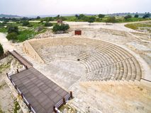 Aerial view of ancient theatre of Kourion Stock Image