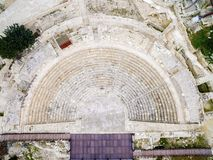 Aerial view of ancient theatre of Kourion Stock Photo