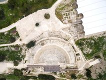 Aerial view of ancient theatre of Kourion Royalty Free Stock Photo