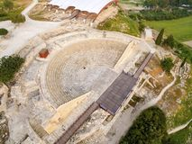 Aerial view of ancient theatre of Kourion Royalty Free Stock Photos