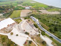 Aerial view of ancient theatre of Kourion Royalty Free Stock Images
