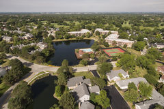 Aerial View of Ancient Tree in Northbrook, IL Stock Photos