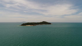 Aerial view of the Andaman sea and small island from beach in Phuket Stock Photo