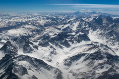 Aerial view from the Andes Royalty Free Stock Photos