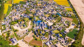 Aerial view of Andong, Hahoe Village in South Korea. Hahoe villa stock images