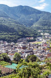 Aerial view of Andorra la Bella Royalty Free Stock Photos