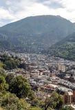 Aerial view of Andorra la Bella Stock Photography