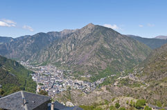 Aerial view of Andorra-La-Vella Royalty Free Stock Images
