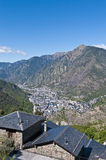 Aerial view of Andorra-La-Vella Stock Photography