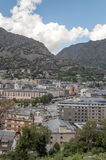 Aerial view of Andorra royalty free stock photography