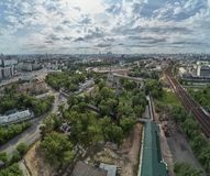 Aerial view of Andronikov Monastery of the Saviour Spaso-Andronikov Monastyr, a former monastery in Moscow, Russia stock images