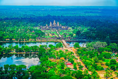 Aerial view of Angkor Wat Temple Royalty Free Stock Photography