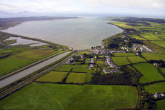 Aerial View of Anglesey. Aerial View of the Isle of Anglesey on the North Wales coast Royalty Free Stock Images