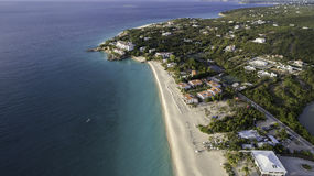 Aerial view of Anguilla Beach Stock Image