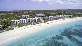 Aerial view of Anguilla Beach Royalty Free Stock Photos