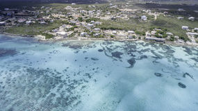 Aerial view of Anguilla Beach Royalty Free Stock Photography