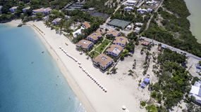 Aerial view of Anguilla Beach Royalty Free Stock Image