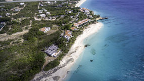 Aerial view of Anguilla Beach Stock Photos