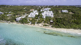Aerial view of Anguilla Beach Stock Photo