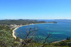 Aerial view of Anna Bay Port Stephens NSW Stock Images