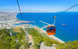 Aerial view of Antalya from Tunektepe Cableway Stock Image