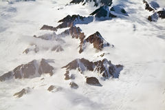 Aerial view of the antarctica Stock Photos