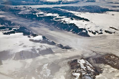 Aerial view of the antarctica Royalty Free Stock Photos