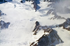 Aerial view of the antarctica royalty free stock images