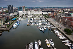 Aerial view of Antwerp Royalty Free Stock Photo