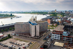 Aerial view of Antwerp Royalty Free Stock Photos