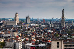 Aerial view of Antwerp Royalty Free Stock Photography