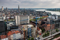 Aerial view of Antwerp Stock Photography