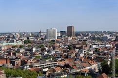 Aerial view of Antwerp city, Belgium. Stock Photos