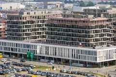 Aerial view of Antwerp with modern office buildingsm Belgium Stock Photography