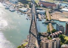Aerial view of Anzac Bridge, Sydney Royalty Free Stock Photo