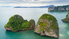 Aerial view of Ao Nang coastline Stock Photography