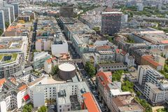 Aerial view of apartment buildings in Berlin Stock Photography