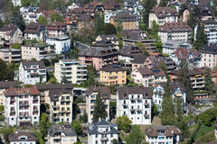 Aerial view of apartments in lucerne Stock Image