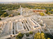 Aerial view of Apollonas Ilatis ancient site, Limassol, Cyprus Stock Photos