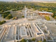 Aerial view of Apollonas Ilatis ancient site, Limassol, Cyprus Royalty Free Stock Image