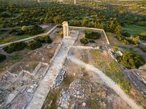 Aerial view of Apollonas Ilatis ancient site, Limassol, Cyprus Stock Images