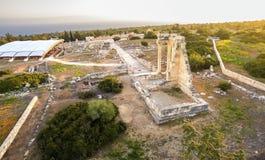 Aerial view of Apollonas Ilatis ancient site, Limassol, Cyprus Royalty Free Stock Photos