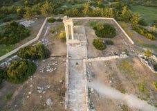 Aerial view of Apollonas Ilatis ancient site, Limassol, Cyprus Royalty Free Stock Photo