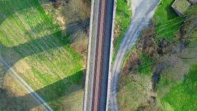 Aerial view: of Aqueduct landmark stock video footage