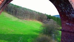 Aerial view of Aqueduct landmark stock video footage