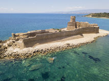 Aerial view of the Aragonese castle of Le Castella, Le Castella, Calabria, Italy Royalty Free Stock Photography
